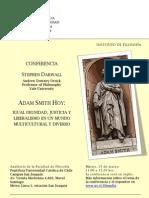 Invitación Afiche Darwall... Adam Smith