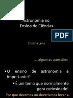Astronomia no Ensino de Ciências