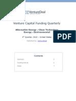 Venture Deal 2010 Q4 CleanTech Report