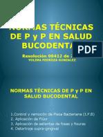 NORMAS TÉCNICAS EN P Y P BUCODENTAL