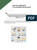 1.2. La relación de la Ingeniería Industrial con la industria de procesos