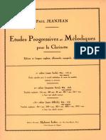 Etudes Progressives Et Mélodiques, Vol. III (Jeanjean, Paul)