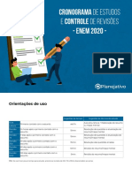 Cronograma de estudos - PDF - ENEM 2021 - Planejativo