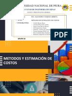 GRUPO 02- MÉTODOS  DE ESTIMACIÓN DE COSTOS