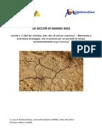 Report siccità marzo 2021