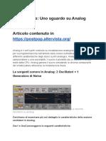 Ableton Live - Analog Instrument