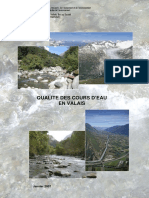 Qualité Des Cours d'Eau en Valais, Janvier 2007
