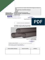 fiche validation échantillon PVC
