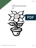 Copilul.ro - Printeaza Floare in Ghiveci