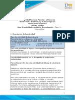 Guia de Actividades y Rúbrica de Evaluación - Fase 6- Informe Final