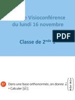 Visio vecteurs TD du 16 novembre