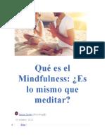 Mindfulness Aprendizaje