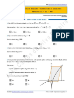 Ficha de Trabalho - Exponenciais e Logaritmos