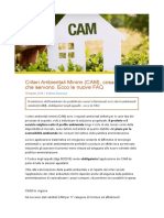 Criteri Ambientali Minimi (CAM), cosa sono e a che servono