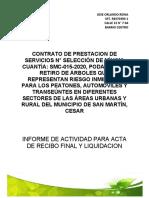 INFORME TALA DE ARBOLES