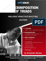 Melodic Triads Routine Plan - Guitar - Armando Alonso - Free