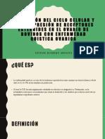 ALTERACIÓN DEL CICLO CELULAR Y DE LA EXPRESIÓN DE RECEPTORES ESTEROIDES EN EL OVARIO DE BOVINOS CON ENFERMEDAD QUISTICA OVARICA