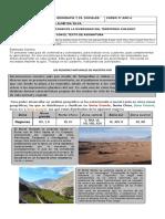 GUÍA FORMATIVA N° 2 REPASO CONTENIDOS ZONAS NATURALES.
