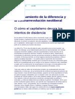 El pensamiento de la diferencia y la contrarevolución neoliberal