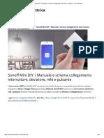 Sonoff Mini DIY _ Manuale e schema collegamento interruttore, deviatore, relè e pulsante