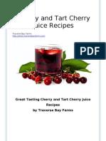 Tart Cherry Juice Recipes