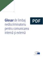 Glosar de limbaj nediscirminatoriu pentru comunicarea internă și externă