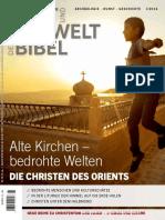 Welt Und Umwelt Der Bibel Ausgabe 2016 1 Nr. 79 Alte Kirchen, Bedrohte Welten - Die Christen Des Orients