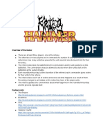 Krieghammer Rulebook
