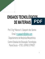 Ensaios Tecnológicos de Materiais - Aula 2