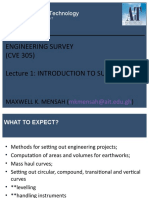 week 1 - introduction to surveying