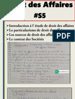 Resume Droit Des Affaires S5