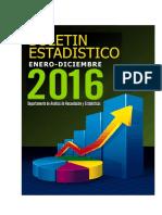 Boletin Estadistico 2016-Excel
