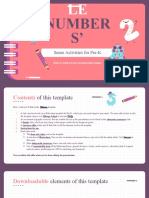 Printable Number Sense Activities for Pre-K by Slidesgo