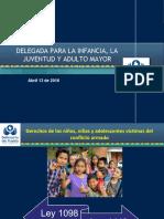 Delegada para la infancia, la juventud y el adulto mayor 13 de abril 2016 - delegada víctimas