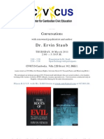 Conversati​ons with renowned psychologi​st/author Dr. Ervin Staub