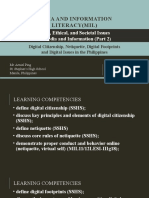 8.MIL 7. Legal, Ethical, And Societal Issues in Media and Information (Part 2)- Digital Citizenship, Netiquette, Digital Footprints, And Digital Issues