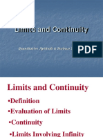 16805Limits Continuity