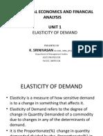 UNIT 1 - Elasticity of Demand