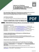 Information Zu Einer EU- Und EWR-Ausbildung Zahnmedizin