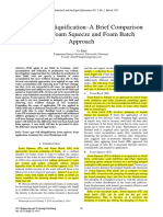 Gas well deliquification-comparison bw foam sequeeze and foam batch approach