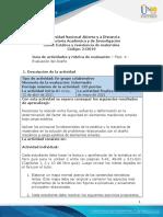 Guía de actividades y rúbrica de evaluación - Unidad 2 - Fase 4 - Evaluación del diseño