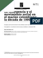 La insurgencia y los movimientos sociales Macizo colombiano