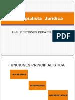 FUNCIONES PRINCIPIALISTICAS