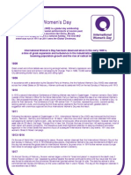 International Women's Day Factsheet