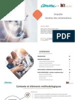 Synthèse Enquête Gestion Des Réclamations 2018 AMARC INIT Vf 1