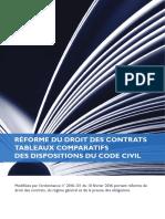 Tableau Comparatif- Livret Rforme Du Droit Des Contrats (1)