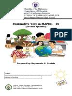 2ndQ Pandemic Summative Test in MAPEH-10
