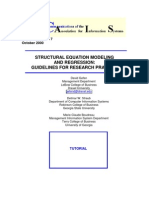 SEM AND REGRESSION - GUIDELINES FOR RESEARCH PRACTICE; GEFEN, STRAUB & BODREAU