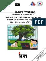 Creative-Writing Fiction -Q1-Module5-SHS-V3b