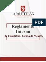 REGLAMENTO INTERNO DE CUAUTITLÁN 2019-2021